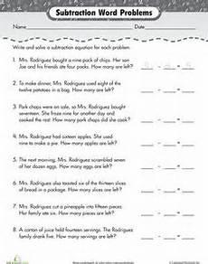 practice word problem subtraction kelsey word problems