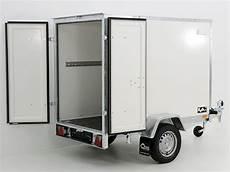 pkw anhänger koffer pkw anh 228 nger koffer 750kg ungebremst 118x205x150cm