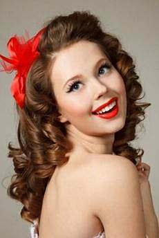 hair pin up on a curly pin up hairstyles