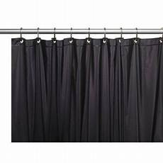 Black Vinyl Shower Curtain