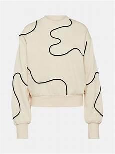 funky buddha sweatshirt in creme schwarz bei about you