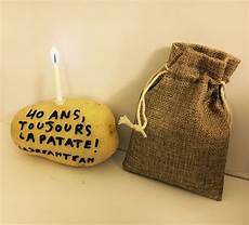 patate anonyme d anniversaire 40 ans invitation
