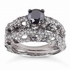 2ct tdw black and white diamond bridal ring h i i1 i2 overstock shopping top