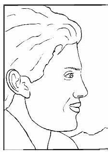 portrait eines jungen mannes ausmalbild malvorlage