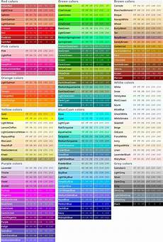 official color names rgb color codes color theory