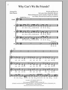 why can t we be friends sheet music direct