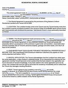 printable sle rental lease agreement templates free