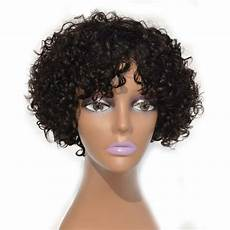 short hair brazilian curly weave alibaba 17 off 2020 brazilian curly short human hair lace front wig bleached and knots 10 12 14inch