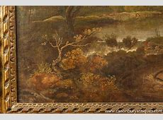 Antique Italian Tuscan Landscape Oil Painting 18th Century
