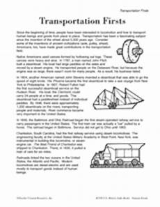 transport comprehension worksheets 15178 the invention of the light bulb book teachervision