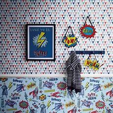 muster für wände jester geometrische tapeten rot blau arthouse 696007