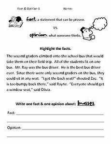 simple fact opinion worksheets by macdonell tpt