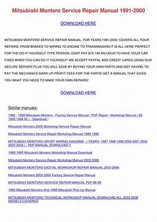 manual repair autos 2004 mitsubishi montero sport regenerative braking mitsubishi montero service repair manual 1991 by bruceanthony issuu