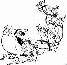 Malvorlage Rentierschlitten Weihnachtsmann Mit Schlitten 2 Ausmalbild Malvorlage