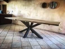 pied de table metal table plateau bois pied metal table basse plateau bois