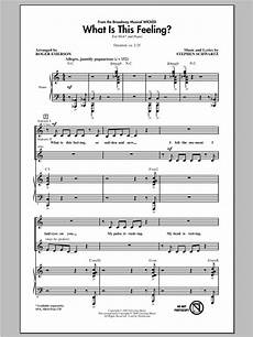 what is this feeling from sheet music roger emerson ssa choir