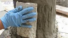 Betonle Selber Machen - deko aus beton im garten baumstamm selber machen