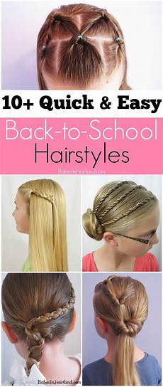 10 quick and easy back to school hairstyles in