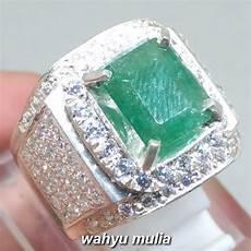 Zamrud Emerald Beryl 2 5 Ct batu cincin zamrud emerald beryl kotak asli kode 1075