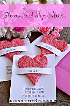 serendipity refined blog made flower seed paper plantable heart favors