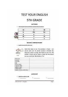 grammar worksheets 5th grade free printable 25111 test 5th grade esl worksheet by almeida