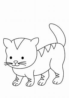 animal baby cats printable coloring books
