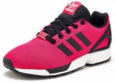 adidas originals zx flux gs trainers in bold pink
