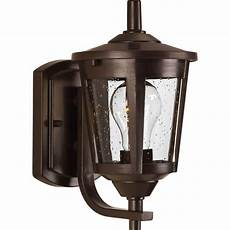 progress lighting east haven 1 light bronze 10 4 in outdoor wall lantern sconce p6073