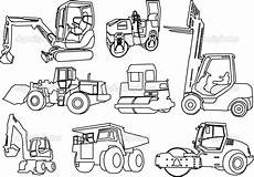 construction vehicles coloring pages and print