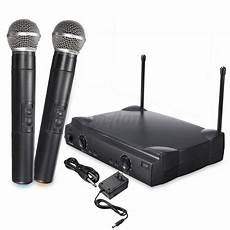Professional Channel Cordless Handheld Wireless Microphone by Wireless Dual Channel Vhf Professional Handheld Microphone
