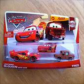 Disney PIXAR Cars LIGHTNING McQUEEN WITH SIGN & FRED 2013