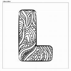 Ausmalbilder Buchstaben D Buchstabe Quot L Quot Zum Ausmalen Fertig Aufgespannt Canvasi