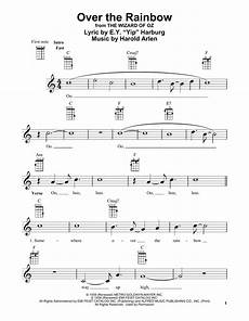 over the rainbow from the wizard of oz sheet music by judy garland ukulele 81193