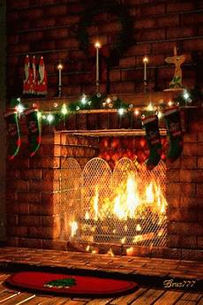 merry fireplace animated gif speakgif