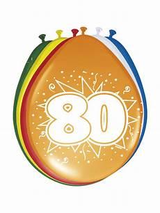 80 geburtstag luftballons deko 8 st 252 ck bunt 30cm