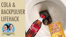 hausmittel abfluss reinigen toilette reinigen mit cola und backpulver wc putzen mit