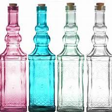 Deko Flaschen In 4 Farben Glasflaschen Schnapsflaschen