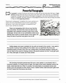 printable worksheets parts 18216 powerful paragraphs identifying the parts of a paragraph classroom tools paragraph classroom