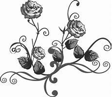 Sketsa Bunga Gambar Bunga Ros Hitam Putih