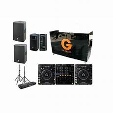 renting dj speakers two cdj 1000s and a djm 800 dj booth dj monitor and powered speakers rental package dj peoples