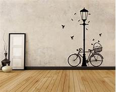 street l bicycle vinyl decals modern wall art sticker