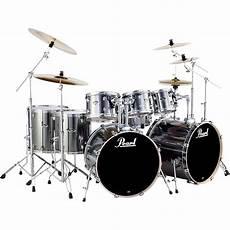 Pearl Export Bass 8 Drum Set Smokey Chrome Ebay