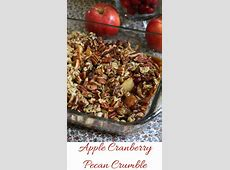 cranberry and apple crumble image