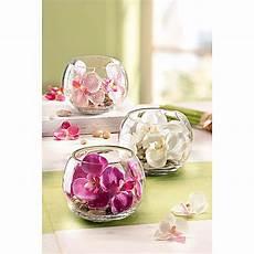 glas deko deko orchidee im glas 3er set jetzt bei weltbild de bestellen