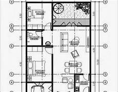 Denah Rumah Minimalis 1 Lantai Ukuran 8x15 Sekitar Rumah