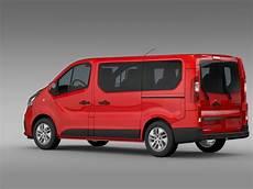 renault trafic minibus 2015 3d model max obj 3ds fbx c4d