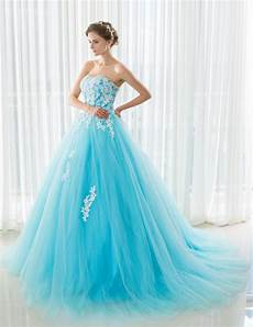 ilovewedding blue wedding dresses with royal train off the shoulder applique bandage bridal