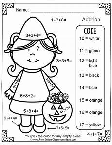 addition colouring worksheets year 1 9863 color by number addition with three addends freebie math
