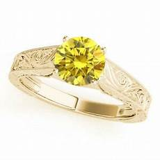 0 5 ct canary yellow diamond solitaire wedding ring