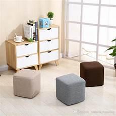 2019 new cloth small square stool cotton and linen fashion